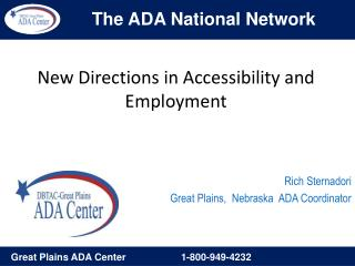 New Directions in Accessibility and Employment
