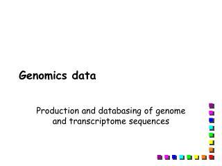 Genomics data