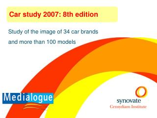 Study of the image of 34 car brands  and more than 100 models
