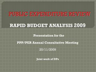 PUBLIC EXPENDITURE REVIEW