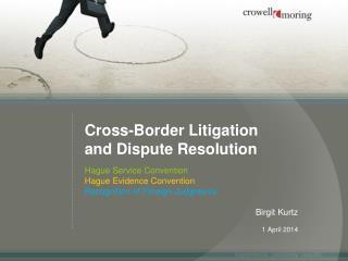 Cross-Border Litigation and Dispute Resolution