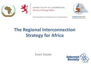 The Regional Interconnection Strategy for Africa