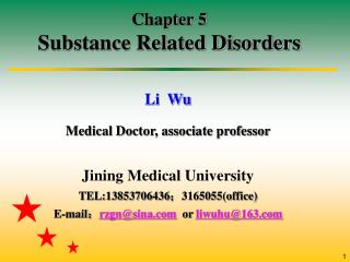 Chapter 5 Substance Related Disorders