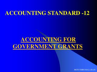 ACCOUNTING STANDARD -12