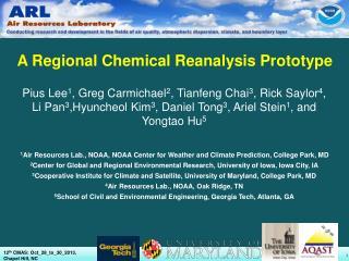 A Regional Chemical Reanalysis Prototype