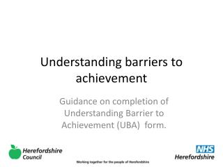 Understanding barriers to achievement