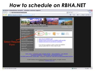 How to schedule on RBHA.NET