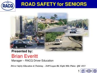 ROAD SAFETY for SENIORS
