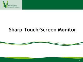 Sharp Touch-Screen Monitor