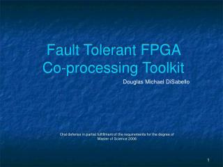 Fault Tolerant FPGA  Co-processing Toolkit