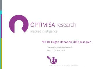 NHSBT Organ Donation 2013 research