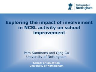 Exploring the impact of involvement in NCSL activity on school improvement