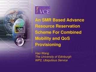 An SMR Based Advance Resource Reservation Scheme For Combined Mobility and QoS Provisioning