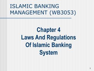 ISLAMIC BANKING MANAGEMENT (WB3053)