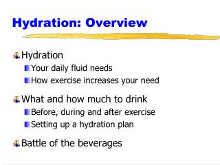 Hydration: Overview