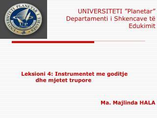 Leksioni 4: Instrumentet me goditje dhe mjetet trupore