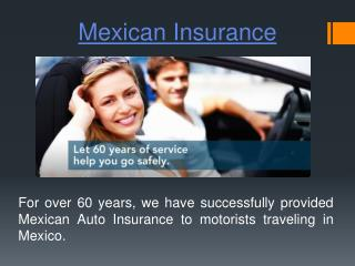 Mexico Insurance Quote