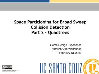 Space Partitioning for Broad Sweep Collision Detection Part 2 - Quadtrees