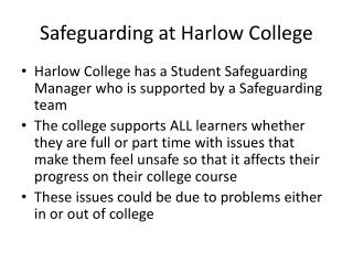 Safeguarding at Harlow College