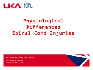 Physiological Differences Spinal Cord Injuries