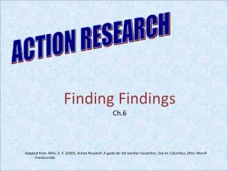 Finding Findings Ch.6