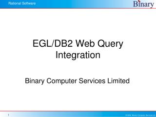 EGL/DB2 Web Query Integration
