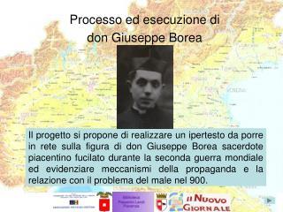Processo ed esecuzione di don Giuseppe Borea