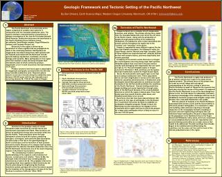Geologic Framework and Tectonic Setting of the Pacific Northwest