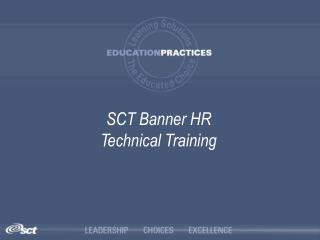 SCT Banner HR Technical Training