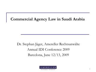 Commercial Agency Law in Saudi Arabia