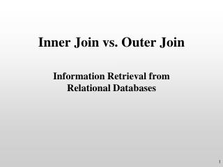 Inner Join vs. Outer Join