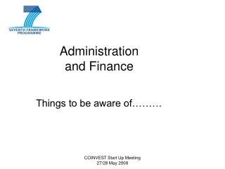 Administration and Finance