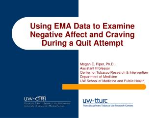 Using EMA Data to Examine Negative Affect and Craving During a Quit Attempt