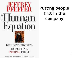 Putting people first in the company