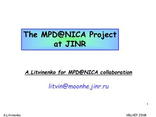 The MPD@NICA Project at JINR