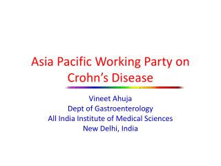 Asia Pacific Working Party on Crohn's Disease
