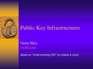 Public Key Infrastructures