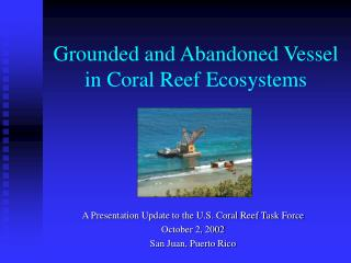 Grounded and Abandoned Vessel in Coral Reef Ecosystems