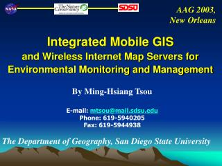 Integrated Mobile GIS  and Wireless Internet Map Servers for Environmental Monitoring and Management