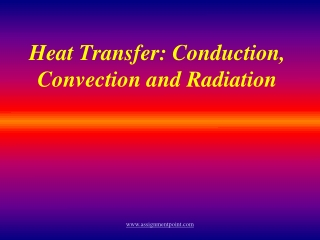 Understanding Heat Transfer, Conduction, Convection and Radiation