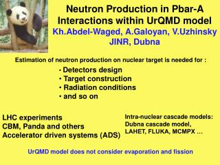 Estimation of neutron production on nuclear target is needed for :