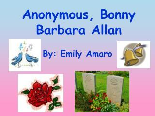 Anonymous, Bonny Barbara Allan
