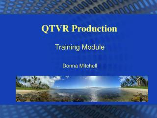 QTVR Production