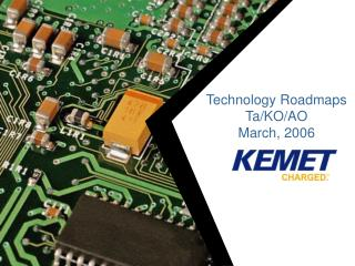 Technology Roadmaps Ta/KO/AO March, 2006