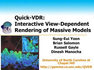 Quick-VDR:  Interactive View-Dependent Rendering of Massive Models