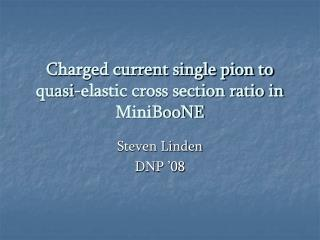 Charged current single pion to quasi-elastic cross section ratio in MiniBooNE