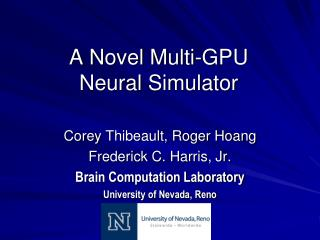A Novel Multi-GPU  Neural Simulator