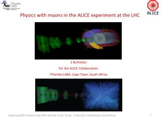 Physics with  muons  in the ALICE experiment at the LHC