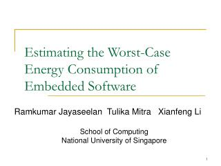 Estimating the Worst-Case Energy Consumption of Embedded Software