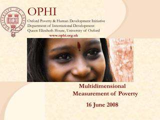 Multidimensional  Measurement of Poverty  16 June 2008